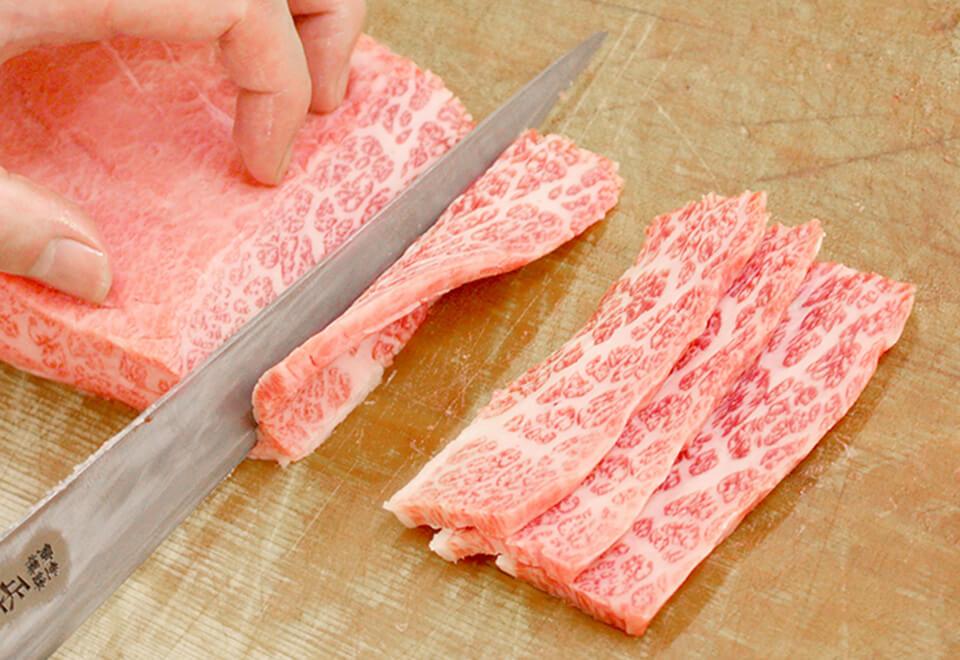 肉のスライス